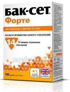 БАК-СЕТ ФОРТЕ N10 КАПС МАССОЙ 210МГ - цена 321 руб., купить в интернет аптеке в Москве БАК-СЕТ ФОРТЕ N10 КАПС МАССОЙ 210МГ, инструкция по применению